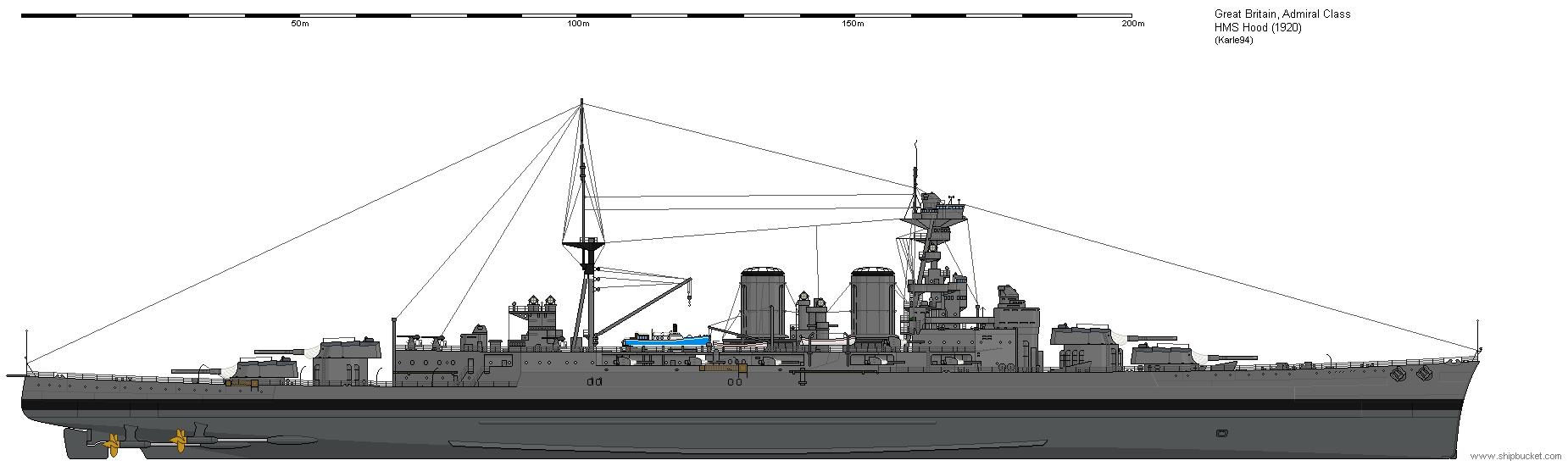 HMS Hood 1920 (Shipbucket)